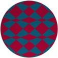 rug #897193 | round blue-green check rug