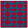 rug #897201 | square blue-green check rug