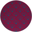 rug #897213 | round blue-green rug