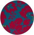 rug #897233   round blue-green natural rug