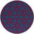 rug #897553 | round blue-green rug