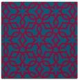 rug #897561   square blue-green rug