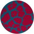 rug #897573 | round blue-green animal rug