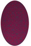 rug #897605 | oval blue-green rug