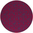 rug #897613 | round blue-green graphic rug