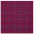rug #897621 | square blue-green graphic rug