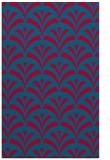rug #897629 |  blue-green retro rug