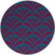 rug #897633 | round blue-green retro rug