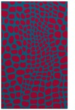 rug #897689    blue-green animal rug