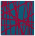 rug #897821 | square blue-green stripes rug