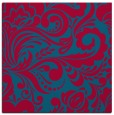 rug #898181 | square blue-green damask rug