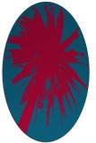 rug #898225 | oval blue-green abstract rug
