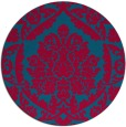 rug #898273 | round blue-green traditional rug