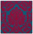 rug #898281 | square blue-green damask rug