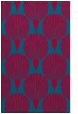 rug #898329 |  blue-green retro rug