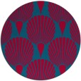 rug #898333 | round blue-green graphic rug