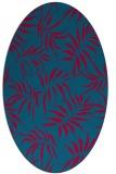rug #898525 | oval blue-green natural rug
