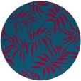 rug #898533 | round blue-green natural rug