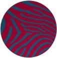 rug #898853 | round blue-green rug
