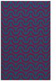 rug #898909 |  blue-green retro rug