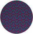 rug #898913   round blue-green graphic rug