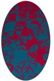 rug #899165 | oval blue-green abstract rug