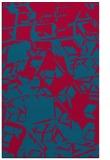 rug #899169    blue-green abstract rug