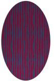 rug #899245 | oval blue-green rug