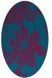 rug #899265 | oval blue-green rug
