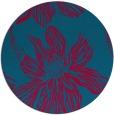 rug #899273 | round blue-green rug