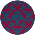 rug #899334 | round damask rug