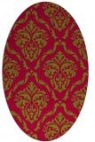 rug #899368 | oval damask rug
