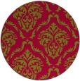 rug #899376 | round damask rug