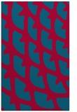 rug #899729    blue-green abstract rug