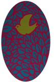 rug #899985 | oval graphic rug