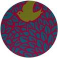 rug #899993 | round blue-green animal rug