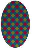 rug #900007 | oval check rug