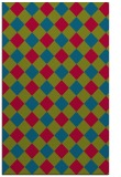 rug #900009    blue-green check rug