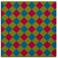 rug #900021   square blue-green check rug