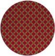 rug #900033 | round blue-green check rug