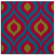 rug #900101 | square blue-green animal rug
