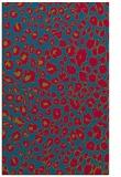 rug #900109 |  blue-green circles rug