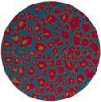 rug #900113   round blue-green circles rug