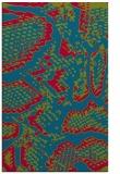 rug #900609 |  blue-green animal rug