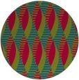 rug #900633   round blue-green graphic rug