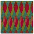 rug #900641 | square blue-green rug