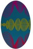 rug #900685 | oval blue-green circles rug