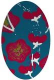 rug #900865 | oval gradient rug