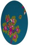rug #900925 | oval blue-green natural rug