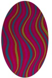 rug #901005   oval blue-green abstract rug